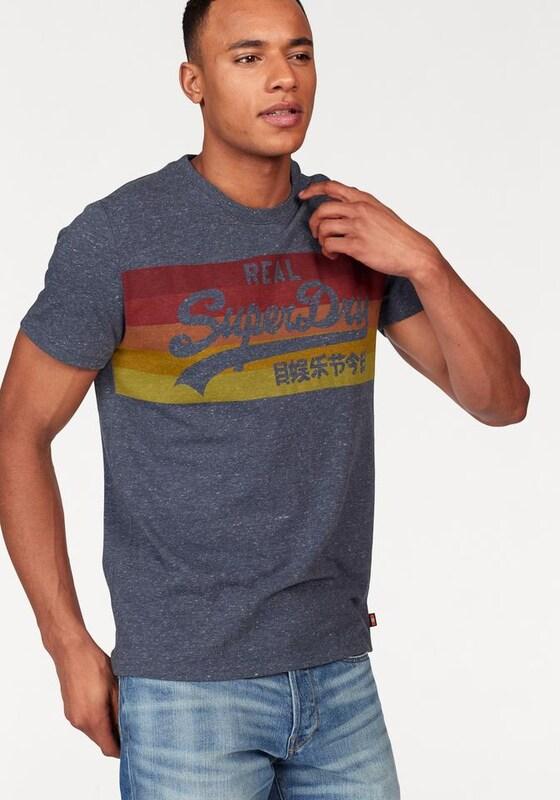 Superdry T-Shirt »VINTAGE LOGO CALI STRIPE TEE«
