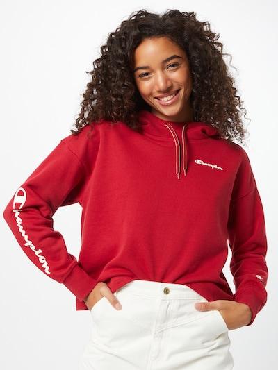 Champion Authentic Athletic Apparel Sweatshirt in weinrot / weiß: Frontalansicht