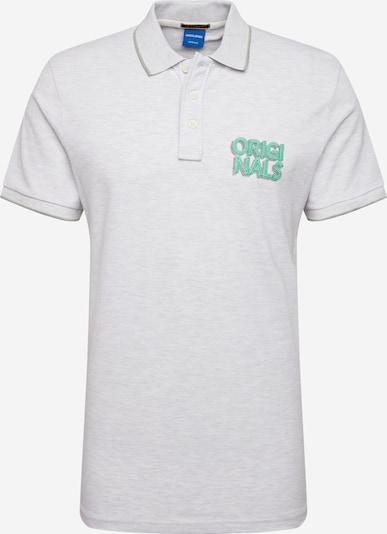 JACK & JONES Shirt 'JORVENICEBEACH' in de kleur Groen / Wit gemêleerd, Productweergave
