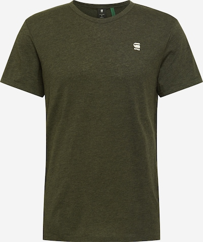 G-Star RAW T-Shirt 'Base-s' in khaki / weiß, Produktansicht