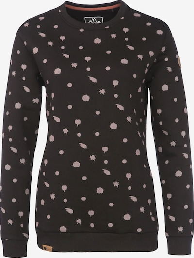 Lakeville Mountain Sportief sweatshirt 'Uelle Dots' in de kleur Zwart, Productweergave