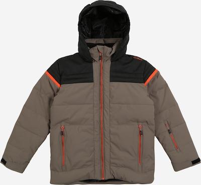 CMP Sport-Jacke in khaki / orange / schwarz: Frontalansicht
