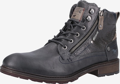 MUSTANG Stiefelette in graphit: Frontalansicht