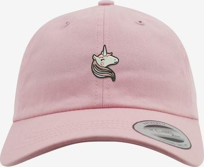 Mister Tee Dadcap 'Unicorn' in beige / hellpink / schwarz, Produktansicht