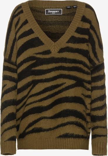Superdry Pullover 'EDIT' in khaki / schwarz, Produktansicht