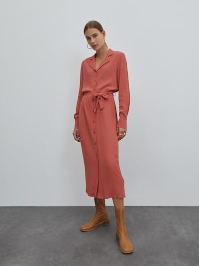 EDITED Blusenkleid 'Christin' in orangerot, Modelansicht