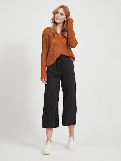 OBJECT High Waist Hose mit weitem Bein in schwarz, Modelansicht