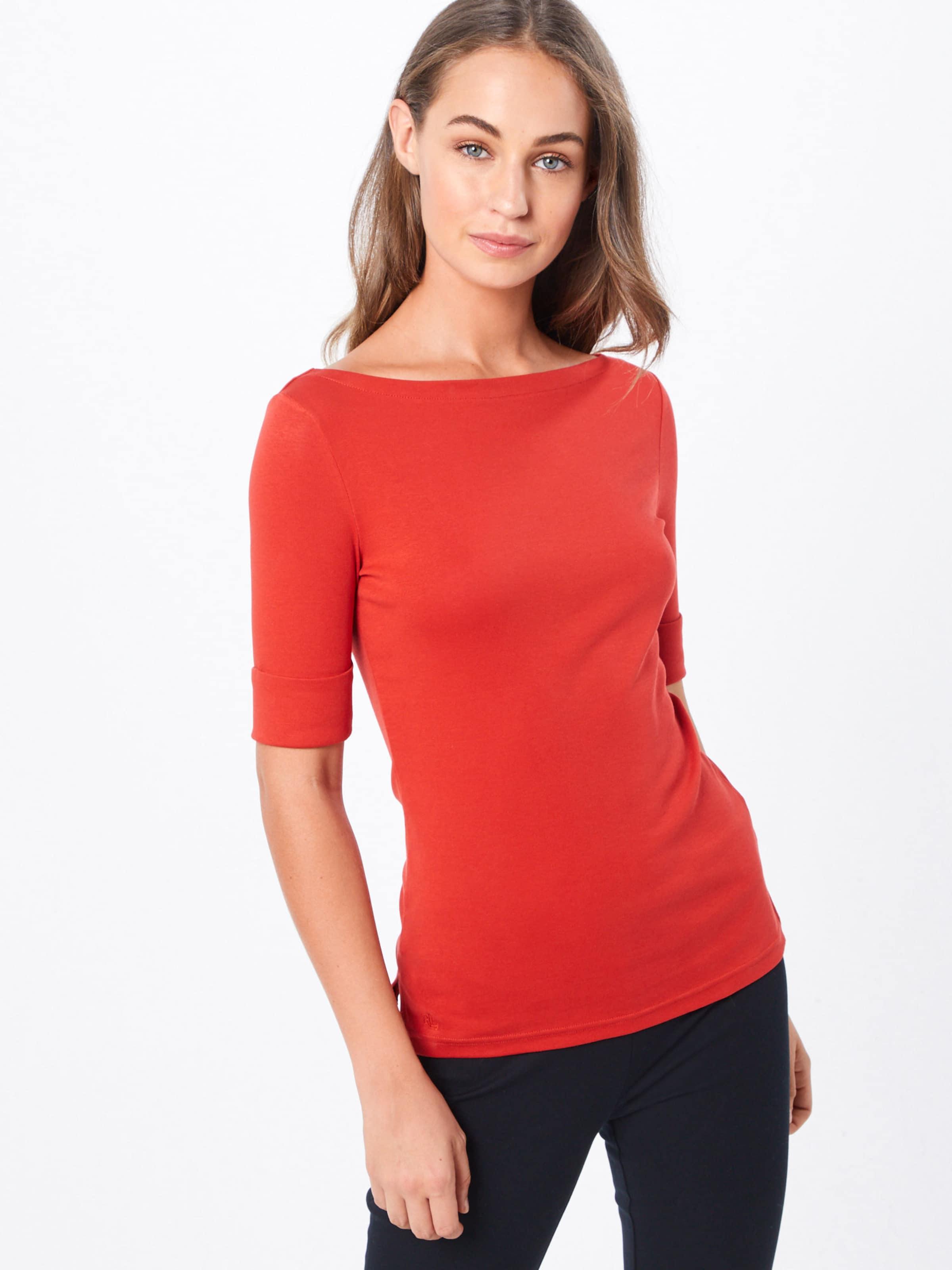 Rouge En Lauren Orangé shirt Ralph 'judy' T pzMjUGSLqV