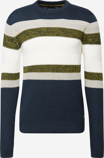Only & Sons Pullover 'LAZLO' in dunkelblau / oliv / offwhite: Frontalansicht