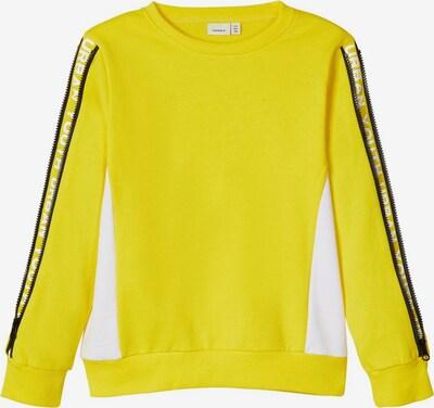 NAME IT Einsatzstreifen Sweatshirt in gelb, Produktansicht