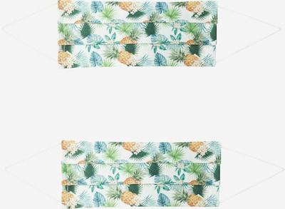 Zwillingsherz Stoffmasken '2er Pack Hawaii' in braun / grün / weiß, Produktansicht