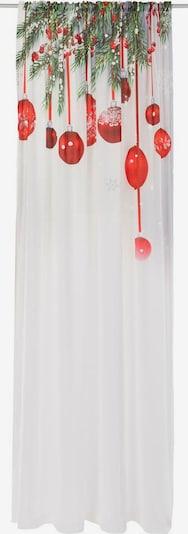 MY HOME Gardine in rot / weiß, Produktansicht