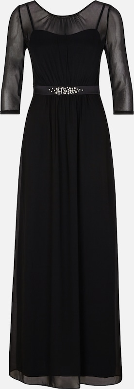 S.Oliver schwarz LABEL Kleid in schwarz   perlweiß  Große Preissenkung