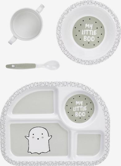 LÄSSIG Kindergeschirr-Set 'Little Spookies' in grau / weiß, Produktansicht
