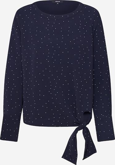 OPUS Langarmshirt 'Flota dot' in dunkelblau / offwhite, Produktansicht