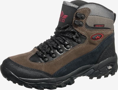 LICO Boots 'Milan' in de kleur Bruin / Grijs / Zwart, Productweergave
