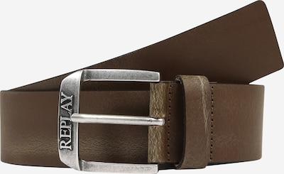 REPLAY Pas | temno rjava / srebrna barva, Prikaz izdelka