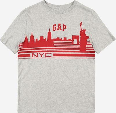 GAP T-Shirt 'City' in graumeliert / rot, Produktansicht