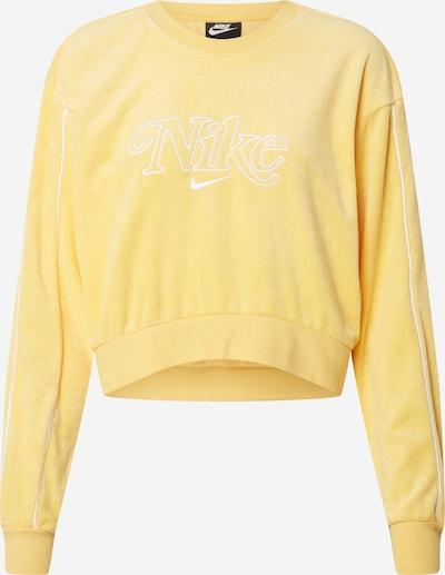 Nike Sportswear Sweatshirt in gelb / weiß, Produktansicht