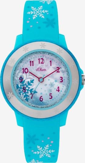 s.Oliver Uhr in neonblau / beere / silber, Produktansicht