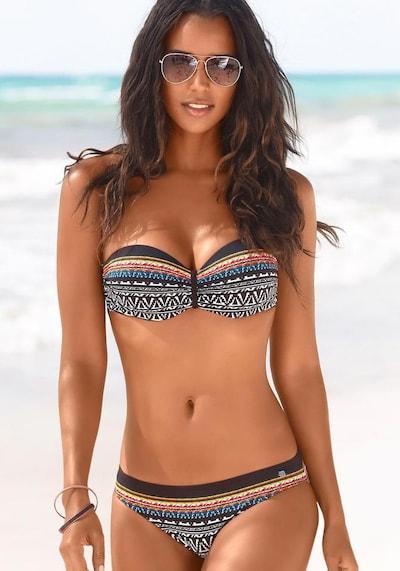 JETTE Bügel-Bandeau-Bikini in mischfarben / schwarz, Modelansicht