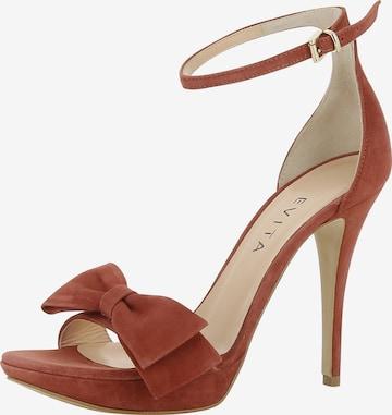 Sandales à lanières 'Valeria' EVITA en marron
