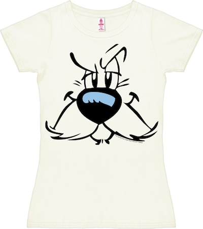 "LOGOSHIRT T-Shirt ""Idefix"" in schwarz / weiß, Produktansicht"