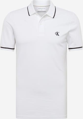 Calvin Klein Jeans Shirt 'TIPPING SLIM POLO' in White