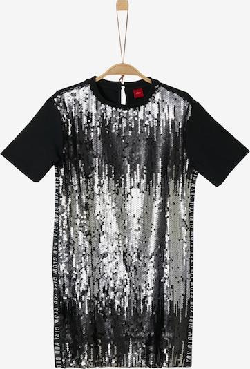 s.Oliver Kleid in schwarz / silber, Produktansicht