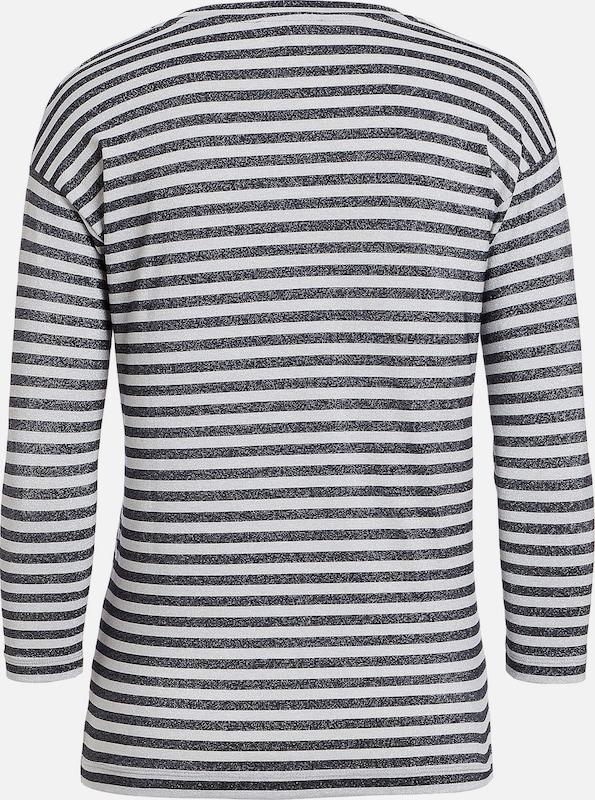 MORE & MORE Lurex-Streifenshirt