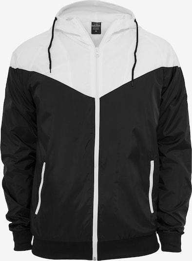 Urban Classics Prehodna jakna 'Arrow' | črna / bela barva, Prikaz izdelka