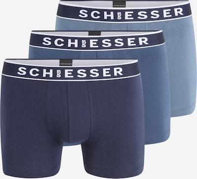 SCHIESSER Trunks  '3PACK Shorts' in blau, Produktansicht