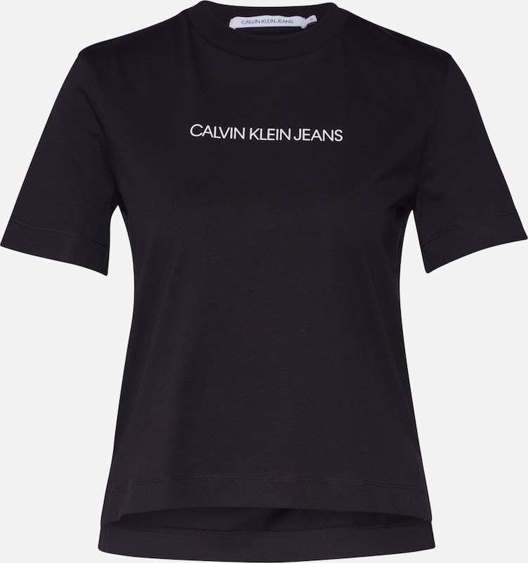 Calvin Klein Jeans Shirt 'SHRUNKEN INSTITUTIONAL LOGO TEE' in schwarz, Produktansicht