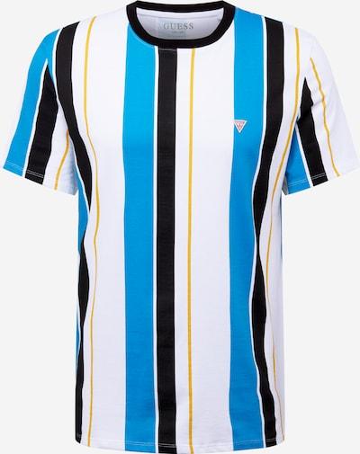 GUESS T-Shirt en bleu / marine / jaune / blanc, Vue avec produit