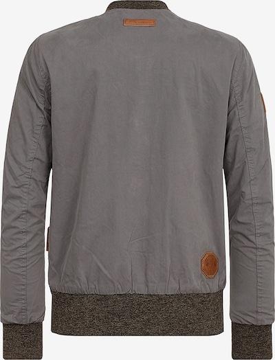 naketano Jacke in braun / grau: Rückansicht