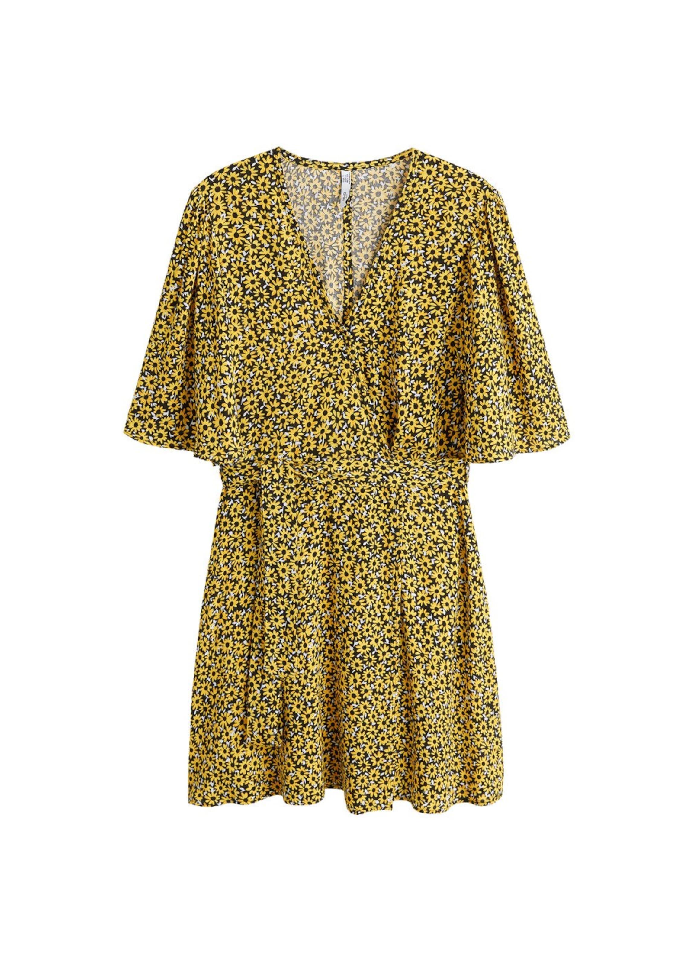 GelbSchwarz Kleid Mango Weiß In 'camile' nNOvmw80