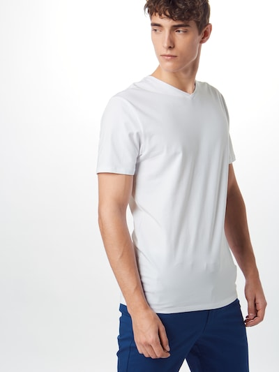 SELECTED HOMME Koszulka 'V-NECK TEE B NOOS' w kolorze białym: Widok z przodu