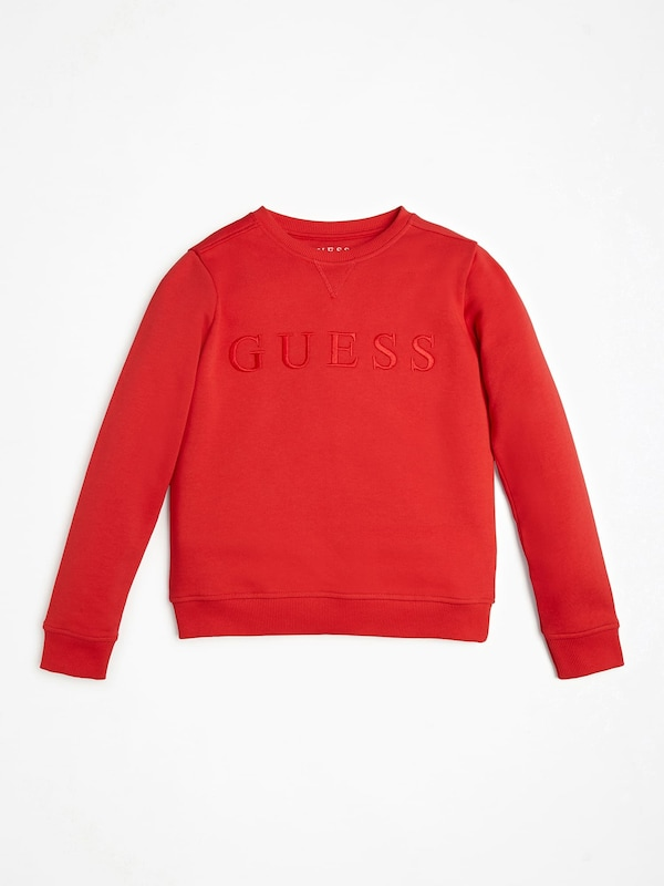 GUESS KIDS Sweatshirt in hellrot: Frontalansicht