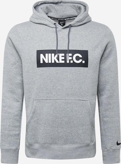 NIKE Sportska sweater majica 'F.C.' u siva / crna / bijela, Pregled proizvoda