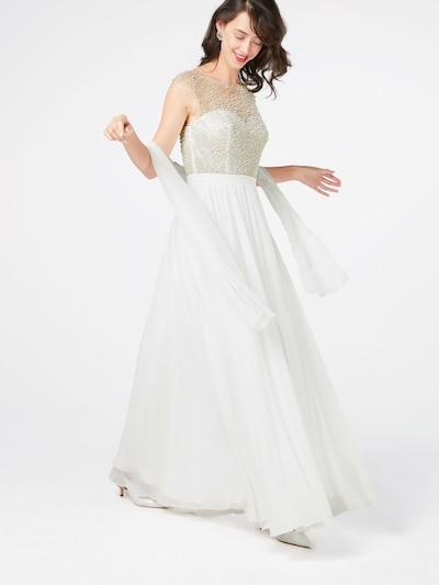 Vakarinė suknelė iš mascara , spalva - kremo / balta, Modelio vaizdas