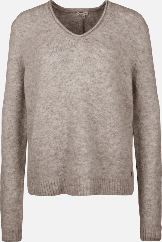 BETTER RICH Strickpullover 'CLASSIC' in taupe: Frontalansicht
