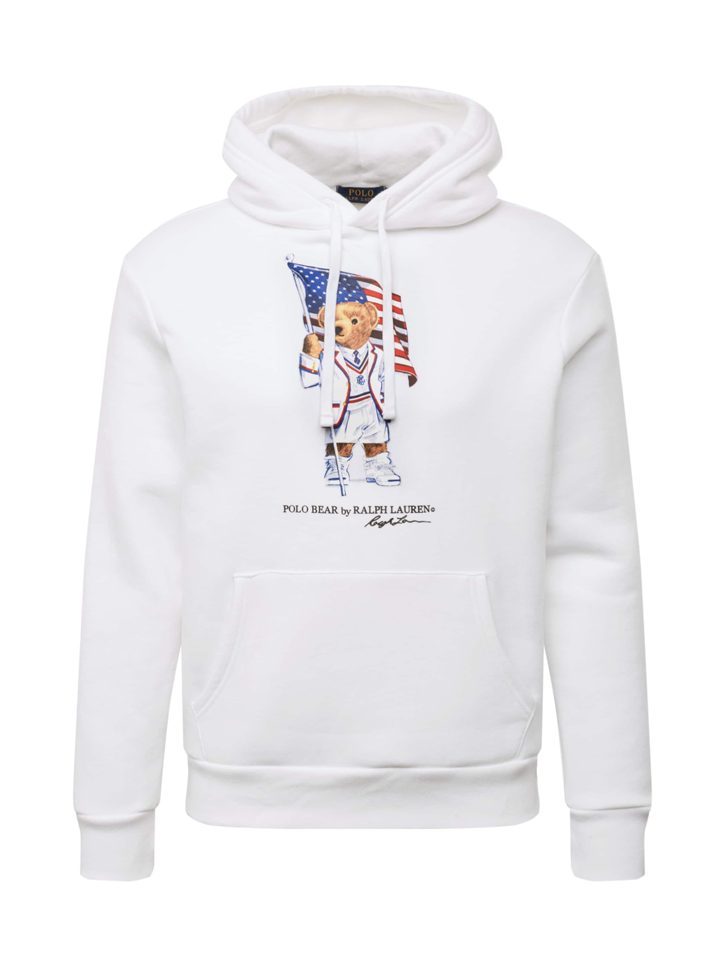 Sweat Polo Fleece' Ralph CouleursBlanc 'magic shirt Lauren En Mélange De UqSMzVLpG