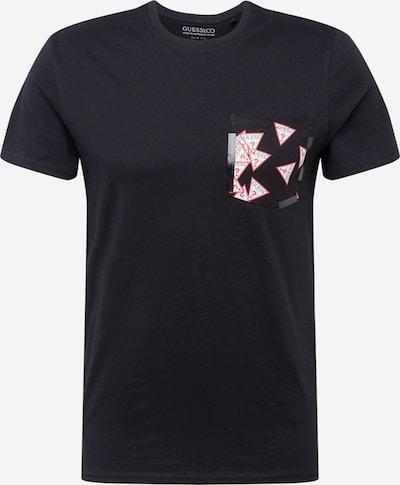 GUESS T-Shirt 'Multitude' in rot / schwarz / weiß, Produktansicht