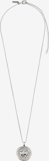 Pilgrim Halskette 'Taurus Zodiac Sign' in silber, Produktansicht
