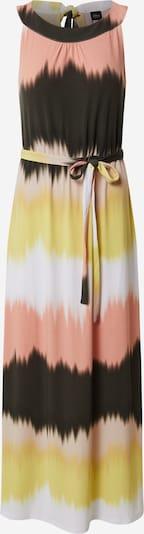 s.Oliver BLACK LABEL Kleid in dunkelbraun / hellgelb / puder / weiß, Produktansicht