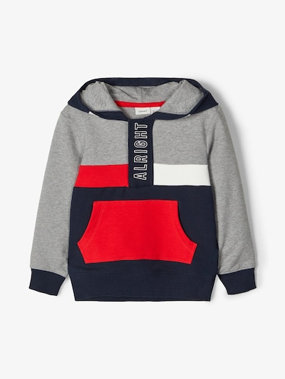 NAME IT Sweatshirt in dunkelblau / grau / rot, Produktansicht