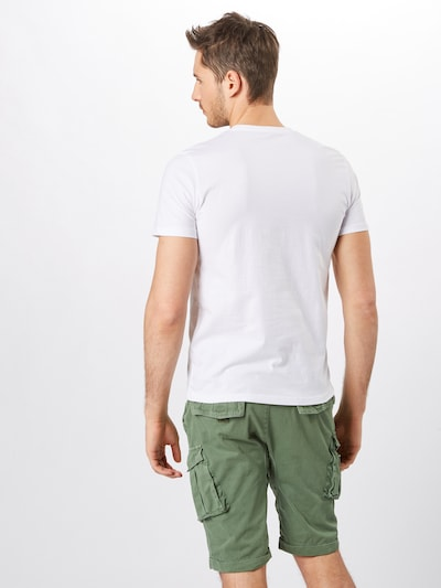 TOM TAILOR T-Shirt 'double pack crew neck tee T-Shirt 1/2' en blanc: Vue de dos