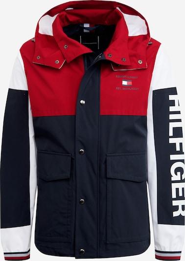 TOMMY HILFIGER Jacke in dunkelblau / rot / weiß, Produktansicht