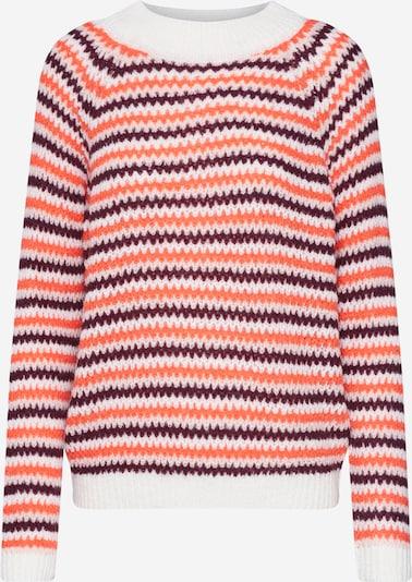 Megztinis 'ERICA LS3' iš ICHI , spalva - raudona / balta: Vaizdas iš priekio