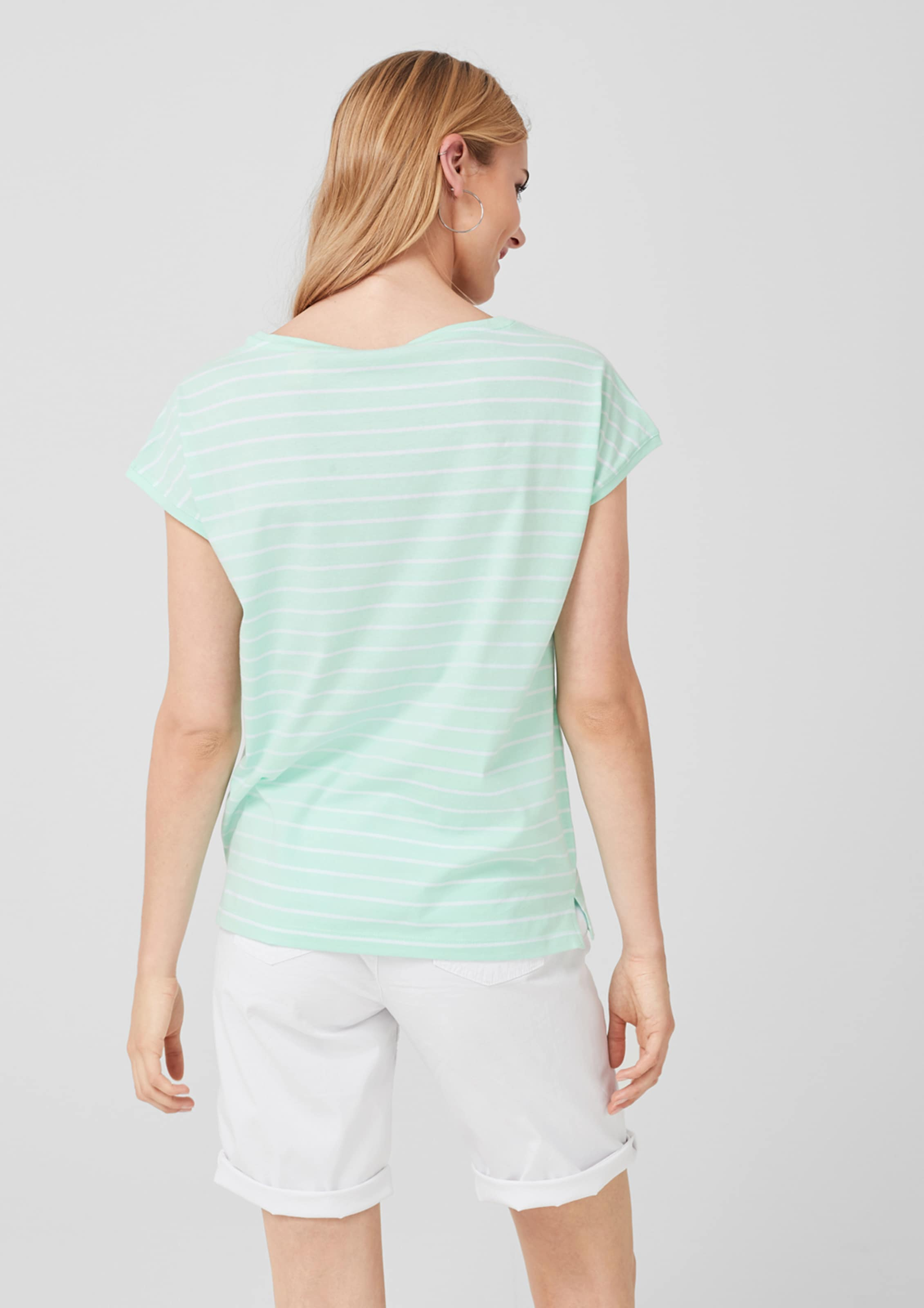 Jerseyshirt PastellgrünWeiß Red S oliver Label In 67gybf